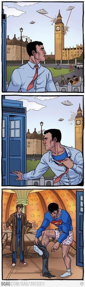 Supes in the TARDIS